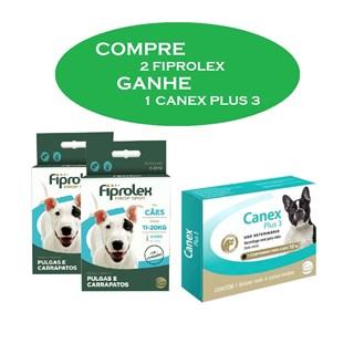 Kit Promocional Ceva Compre 2 Fiprolex e Ganhe 1 Canex Plus 3 Para Cães De 11 a 20kg