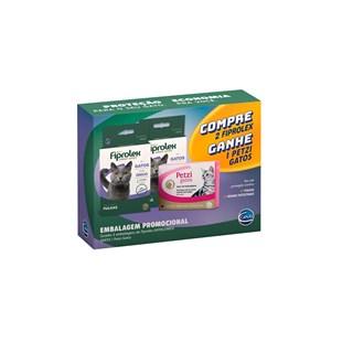 Kit Promocional Ceva Compre 2 Fiprolex e Ganhe 1 Petzi Para Gatos