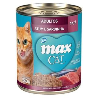 Patê Premium Total Max Cat Para Gatos Adultos Sabor Atum e Sardinha