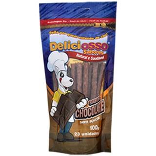Petisco Deliciosso Palito Fino Sabor Chocolate - 100 Gr