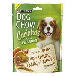 Petisco Dog Chow Carinhos Mix Sabor Carne. Frango e Cenoura Para Cães De Raças Pequenas