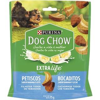 Petisco Dog Chow Carinhos Sabor Banana e Leite Para Cães Filhotes