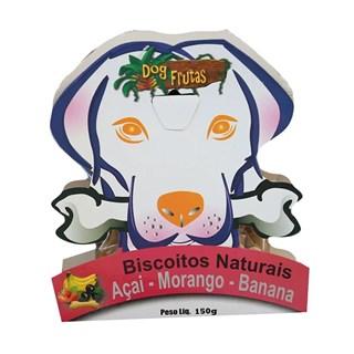 Petisco Dog Frutas Biscoito Natural Sabor Açai. Morango e Banana para Cães