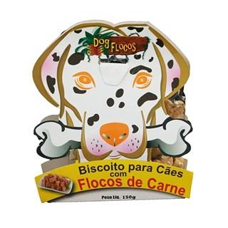 Petisco Dog Frutas Biscoito Natural Sabor Flocos de Carne para Cães