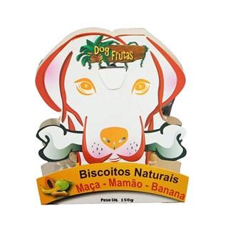 Petisco Dog Frutas Biscoito Natural Sabor Maça. Mamão e Banana para Cães