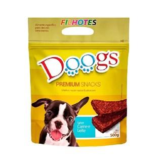 Petisco Doogs Bifinho Sabor Carne e Leite para Cães Filhotes