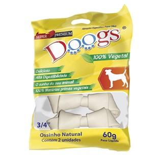 Petisco Doogs Ossinho Vegetal Natural 3/4 para Cães