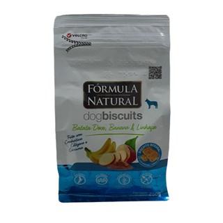 Petisco Fórmula Natural Biscuits Sabor Batata Doce. Banana e Linhaça para Cães de Raças Pequenas