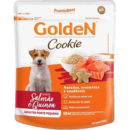 Petisco Golden Cookie Sabor Salmão e Quinoa para Cães Adultos de Raças Pequenas