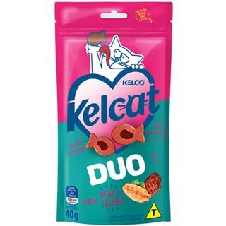 Petisco Kelco Kelcat Snacks Duo Peixe & Fígado para Gatos