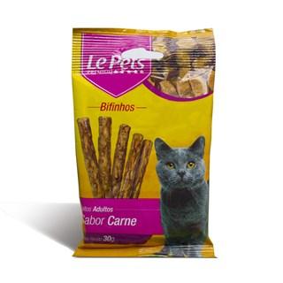 Petisco Le Pets Bifinho Sabor Carne Para Gatos Adultos