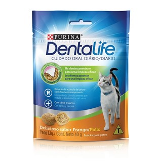 Petisco Nestlé Purina DentaLife para Gatos