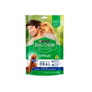Petisco Nestlé Purina Dog Chow Oral Extra Life Cães Adultos Raças Médias e Grandes