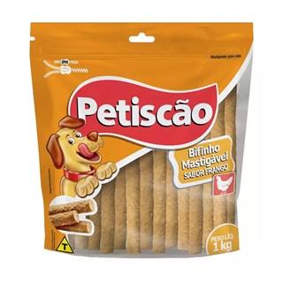Petisco Petiscão Bifinho Mastigável Palito Fino Sabor Frango para Cães