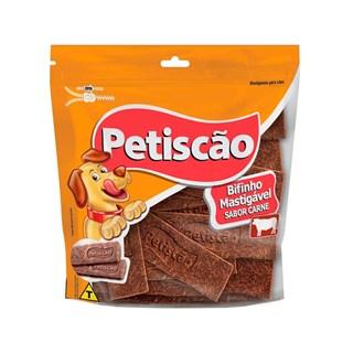 Petisco Petiscão Bifinho Mastigável Tablete Sabor Carne para Cães