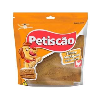 Petisco Petiscão Bifinho Mastigável Tablete Sabor Frango para Cães