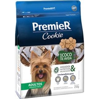 Petisco Premier Pet Cookie Sabor Coco e Aveia para Cães Adultos de Porte Pequeno