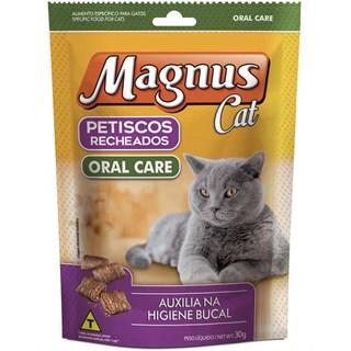 Petisco Recheado Magnus Cat Oral Care Para Gatos