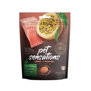 Petisco Snack Petitos Pet Sensations Sabor Salmão e Maracujá para Gatos
