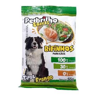 Petisco Snacks Bifinhos Petbrilho Sabor Frango para Cães