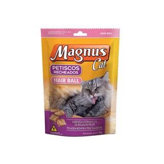 Petiscos Magnus Cat Recheados Hair Ball para Gatos