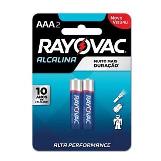 Pilha Rayovac Alcalina AAA Alta Performance com 2 Unidades