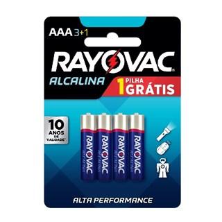 Pilha Rayovac Alcalina AAA Alta Performance Promoção Leve 4 Pague 3