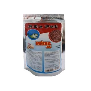 Ração Ace Pet Média Bits Com Alho Para Peixes