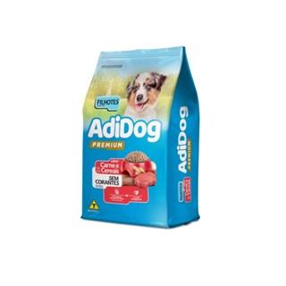 Ração Adidog Premium Sabor Carne e Cereais para Cães Filhotes