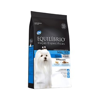 Ração Equilíbrio Raças Específicas Maltês Sabor Frango Para Cães Adultos