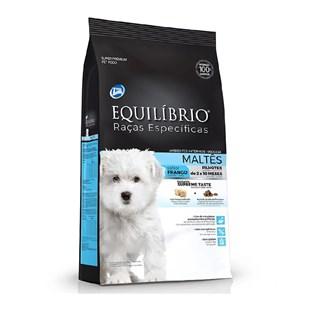 Ração Equilíbrio Raças Específicas Maltês Sabor Frango Para Cães Filhotes