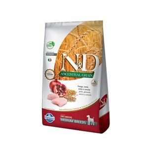 Ração Farmina N&D Ancestral Grain Frango Cães Adultos Raças Médias