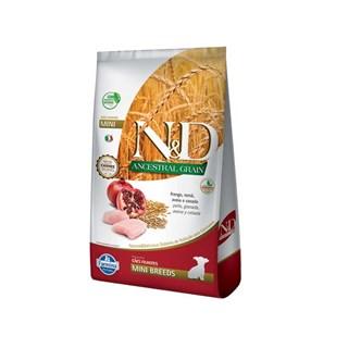 Ração Farmina N&D Ancestral Grain Frango Cães Filhotes Raças Pequenas
