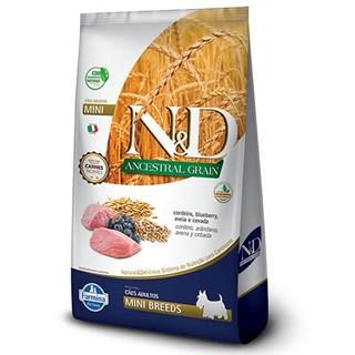 Ração Farmina N&d Ancestral Grain Sabor Cordeiro e Blueberry Para Cães Adultos De Raças Pequenas