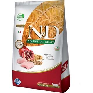 Ração Farmina N&d Ancestral Grain Sabor Frango e Romã Para Gatos Adultos