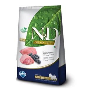Ração Farmina N&d Grain Free Sabor Cordeiro e Blueberry Para Cães Adultos De Raças Pequenas