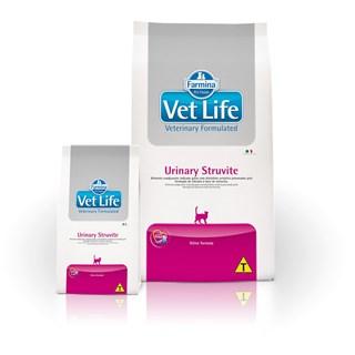 Ração Farmina Vet Life Urinary Struvite Feline Para Gatos Adultos