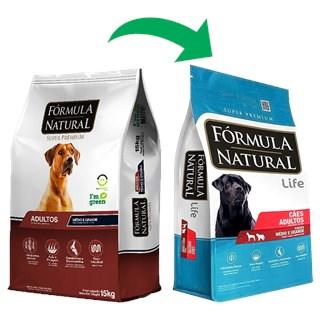 Ração Fórmula Natural Super Premium Frango para Cães Adultos Raças Media e Grande