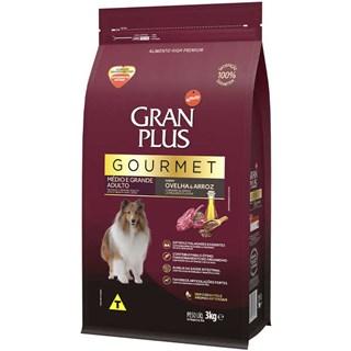 Ração Gran Plus Gourmet Sabor Ovelha e Arroz para Cães Adultos de Raças Médias e Grandes