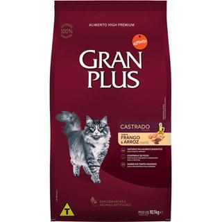 Ração Guabi Gran Plus Frango e Arroz Para Gatos Adultos Castrados