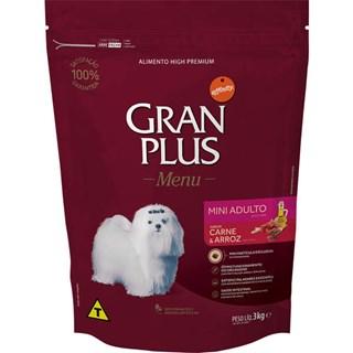 Ração Guabi Gran Plus Menu Mini Sabor Carne e Arroz Para Cães Adultos De Raças Pequenas