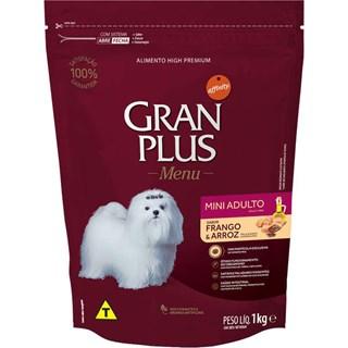 Ração Guabi Gran Plus Menu Mini Sabor Frango e Arroz Para Cães Adultos De Raças Pequenas