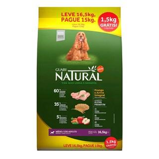Ração Guabi Natural Embalagem Promocional Frango e Arroz Integral para Cães Adultos Raças Média
