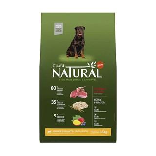 Ração Guabi Natural Sabor Cordeiro e Aveia Para Cães Adultos De Raças Grandes