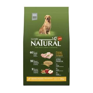 Ração Guabi Natural Sabor Frango e Arroz Integral Para Cães Adultos De Raças Grandes