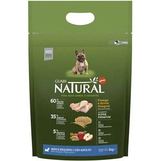Ração Guabi Natural Sabor Frango e Arroz Integral Para Cães Adultos De Raças Pequenas