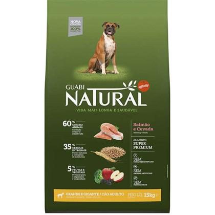 Ração Guabi Natural Sabor Salmão e Cevada Para Cães Adultos De Raças Grandes