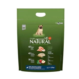 Ração Guabi Natural Sensitive Sabor Salmão e Aveia Para Cães Adultos De Raças Mini. Pequenas e Médias