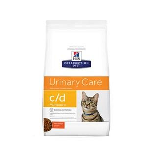 Ração Hills Feline Prescription Diet C/D Multicare Cuidado Urinário Para Gatos Adultos