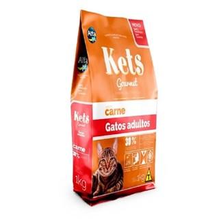 Ração Kets Gourmet Sabor Carne para Gatos Adultos